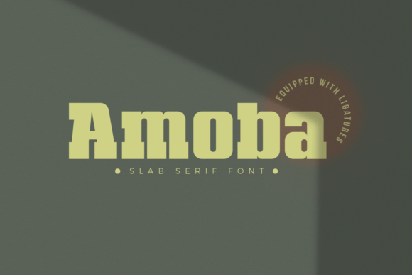 Print on Demand: Amoba Display Font By Line creative