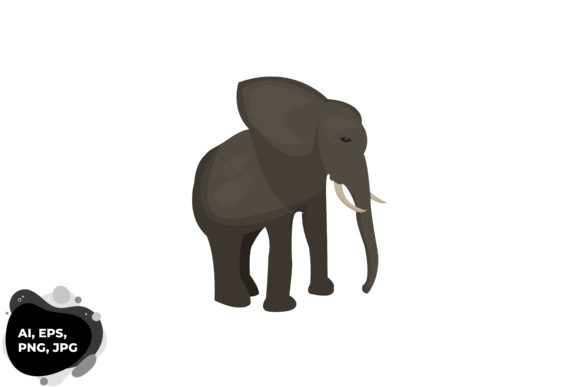 Download Free Elephant Graphic By Aryamuktiproject Creative Fabrica for Cricut Explore, Silhouette and other cutting machines.