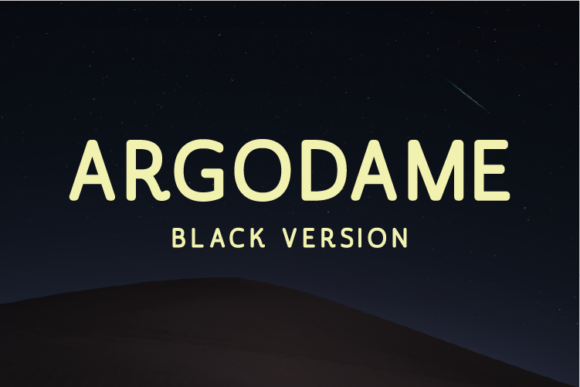 Print on Demand: Argodame Black Sans Serif Font By Nan Design