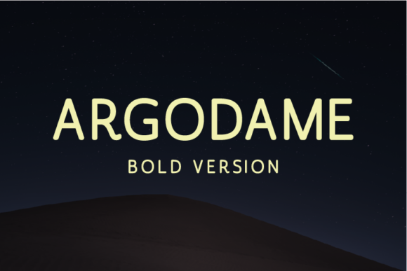 Print on Demand: Argodame Bold Sans Serif Font By Nan Design