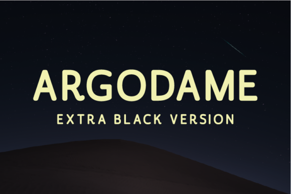 Print on Demand: Argodame Extra Black Sans Serif Font By Nan Design