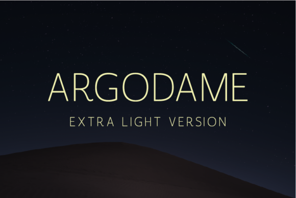 Print on Demand: Argodame Extra Light Sans Serif Font By Nan Design
