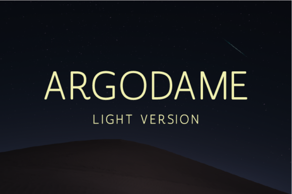 Print on Demand: Argodame Light Sans Serif Font By Nan Design