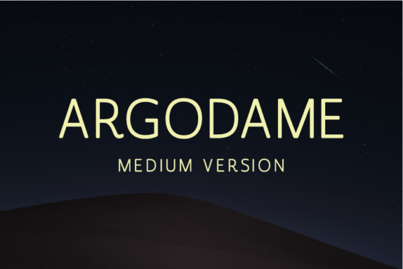 Print on Demand: Argodame Medium Sans Serif Font By Nan Design