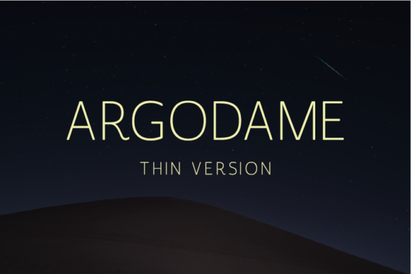 Print on Demand: Argodame Thin Sans Serif Schriftarten von Nan Design