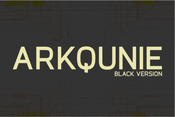 Print on Demand: Arkqunie Black Sans Serif Font By Nan Design