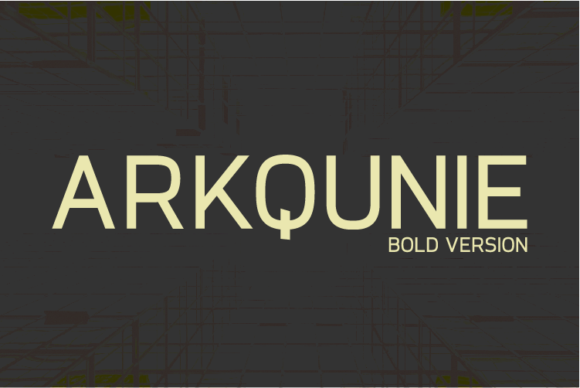 Print on Demand: Arkqunie Bold Sans Serif Font By Nan Design