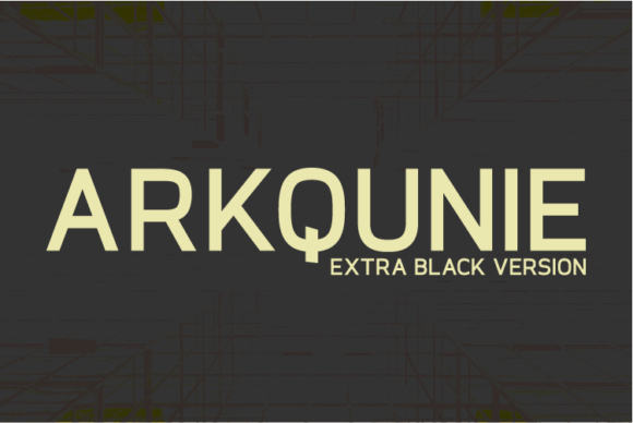 Print on Demand: Arkqunie Extra Black Sans Serif Font By Nan Design
