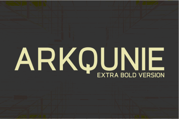 Print on Demand: Arkqunie Extra Bold Sans Serif Font By Nan Design