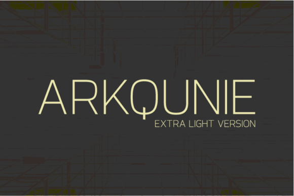 Print on Demand: Arkqunie Extra Light Sans Serif Font By Nan Design