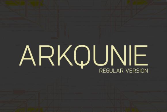 Print on Demand: Arkqunie Sans Serif Font By Nan Design