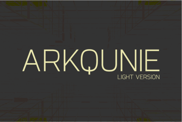 Print on Demand: Arkqunie Light Sans Serif Font By Nan Design