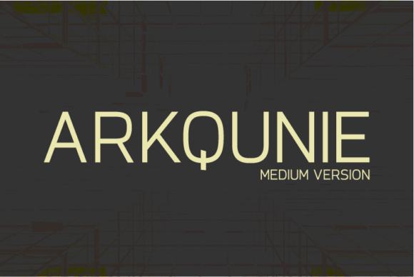 Print on Demand: Arkqunie Medium Sans Serif Font By Nan Design