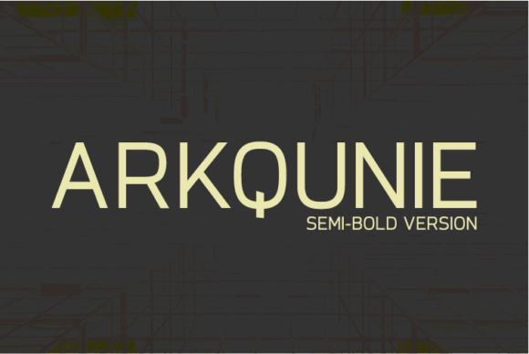 Print on Demand: Arkqunie Semi-Bold Sans Serif Font By Nan Design