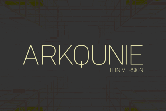 Print on Demand: Arkqunie Thin Sans Serif Font By Nan Design