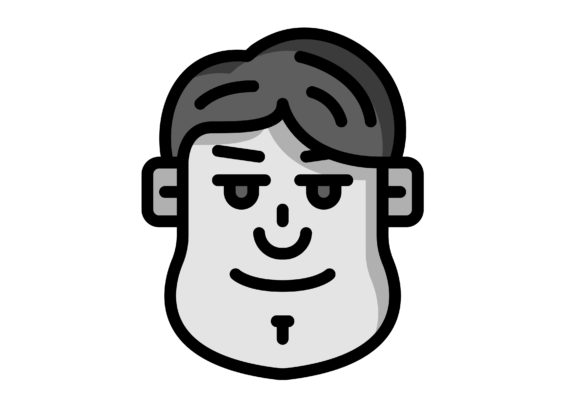 Download Free Avatar Male With Bangs Graphic By Ibua9900 Creative Fabrica for Cricut Explore, Silhouette and other cutting machines.