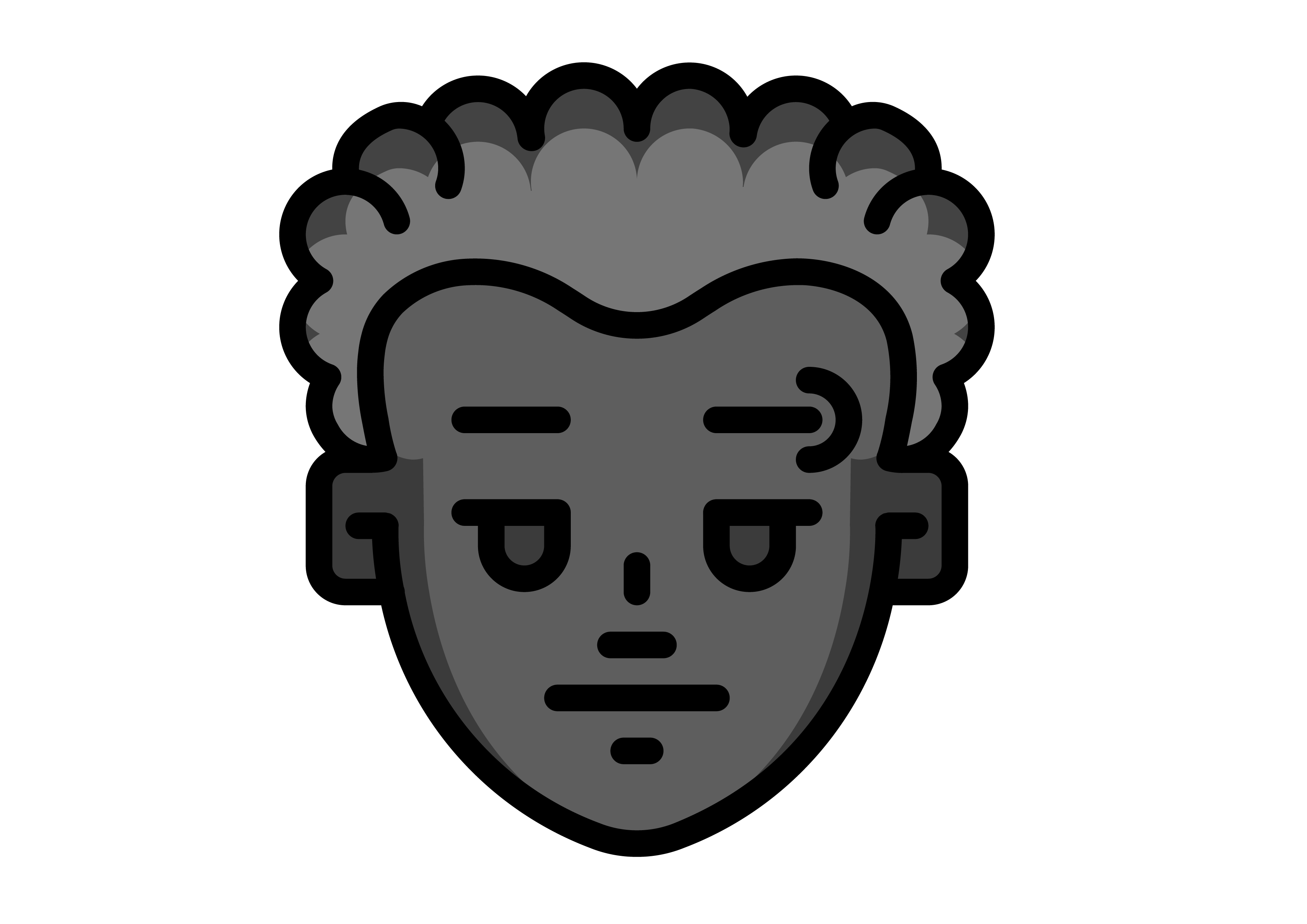 Download Free Avatar Male With Curly Hair Graphic By Ibua9900 Creative Fabrica for Cricut Explore, Silhouette and other cutting machines.