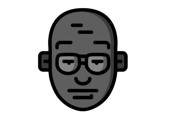 Download Free Avatar Bald Guy With Glasses Grafico Por Ibua9900 Creative Fabrica for Cricut Explore, Silhouette and other cutting machines.