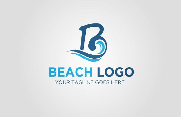 Beach Letter B Logo Graphic Logos By Redvy Creative