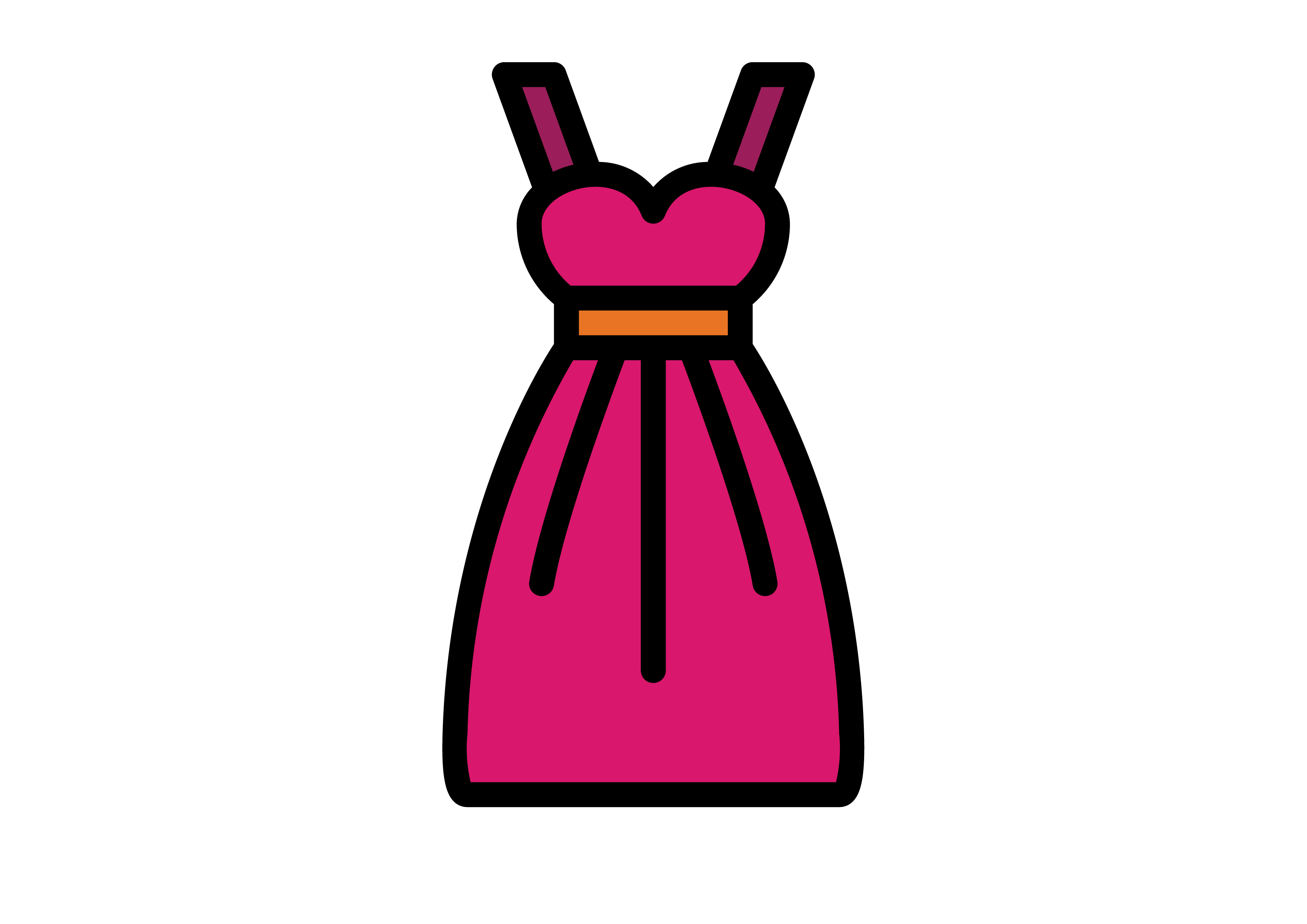 Download Free Beauty Dress Graphic By Cool Coolpkm3 Creative Fabrica for Cricut Explore, Silhouette and other cutting machines.