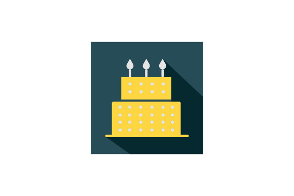 Download Free Birthday Cake Flat Icon Vector Graphic By Riduwan Molla for Cricut Explore, Silhouette and other cutting machines.