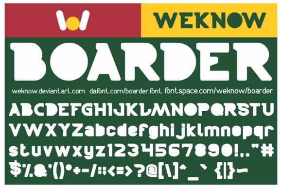 Print on Demand: Boarder Display Font By weknow