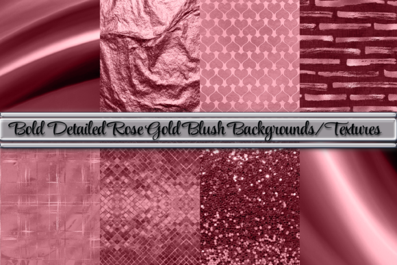 Print on Demand: Bold Rose Gold Blush Background/Textures Graphic Backgrounds By AM Digital Designs