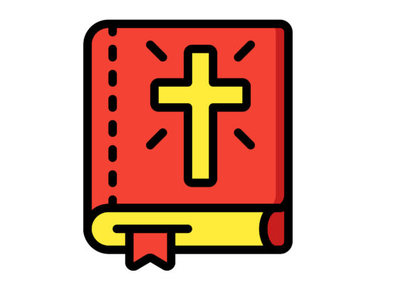 Download Free Religious Red Books Graphic By Ibua9900 Creative Fabrica for Cricut Explore, Silhouette and other cutting machines.