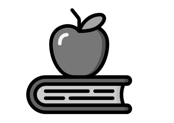 Download Free Books With Apple On Top Graphic By Ibua9900 Creative Fabrica for Cricut Explore, Silhouette and other cutting machines.
