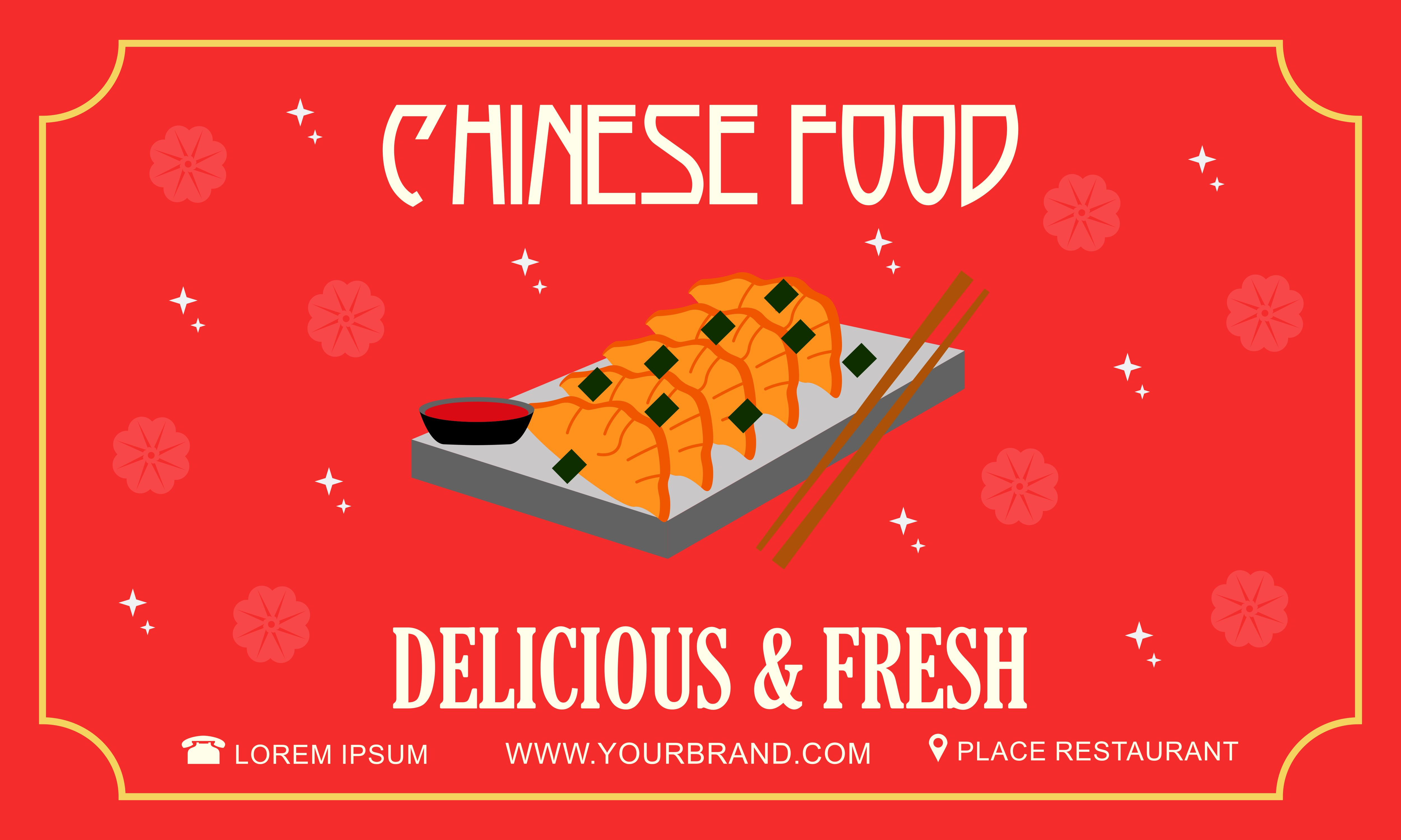 Chinese Food Flyer Logo Template Graphic By 2qnah Creative Fabrica