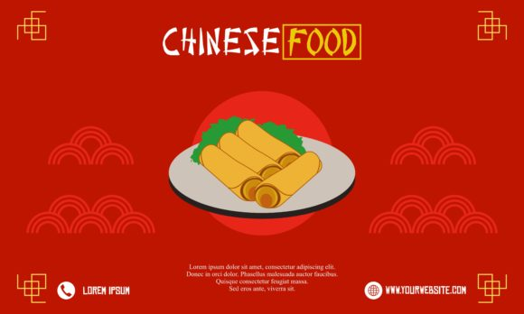 Chinese Food Flyer Logo Template Graphic Logos By DEEMKA STUDIO