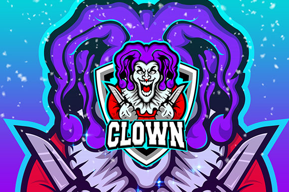 Clown Esport Logo Template Grafik Von Nabila Studio Creative