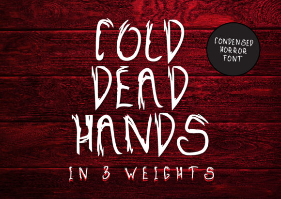 Print on Demand: Cold Dead Hands Display Font By GraphicsBam Fonts