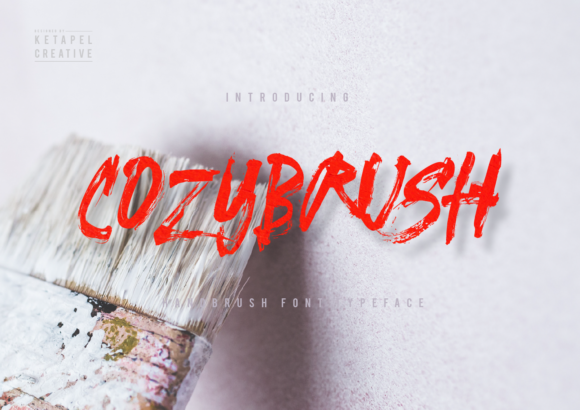 Print on Demand: Cozybrush Script & Handwritten Font By ketapelcreative