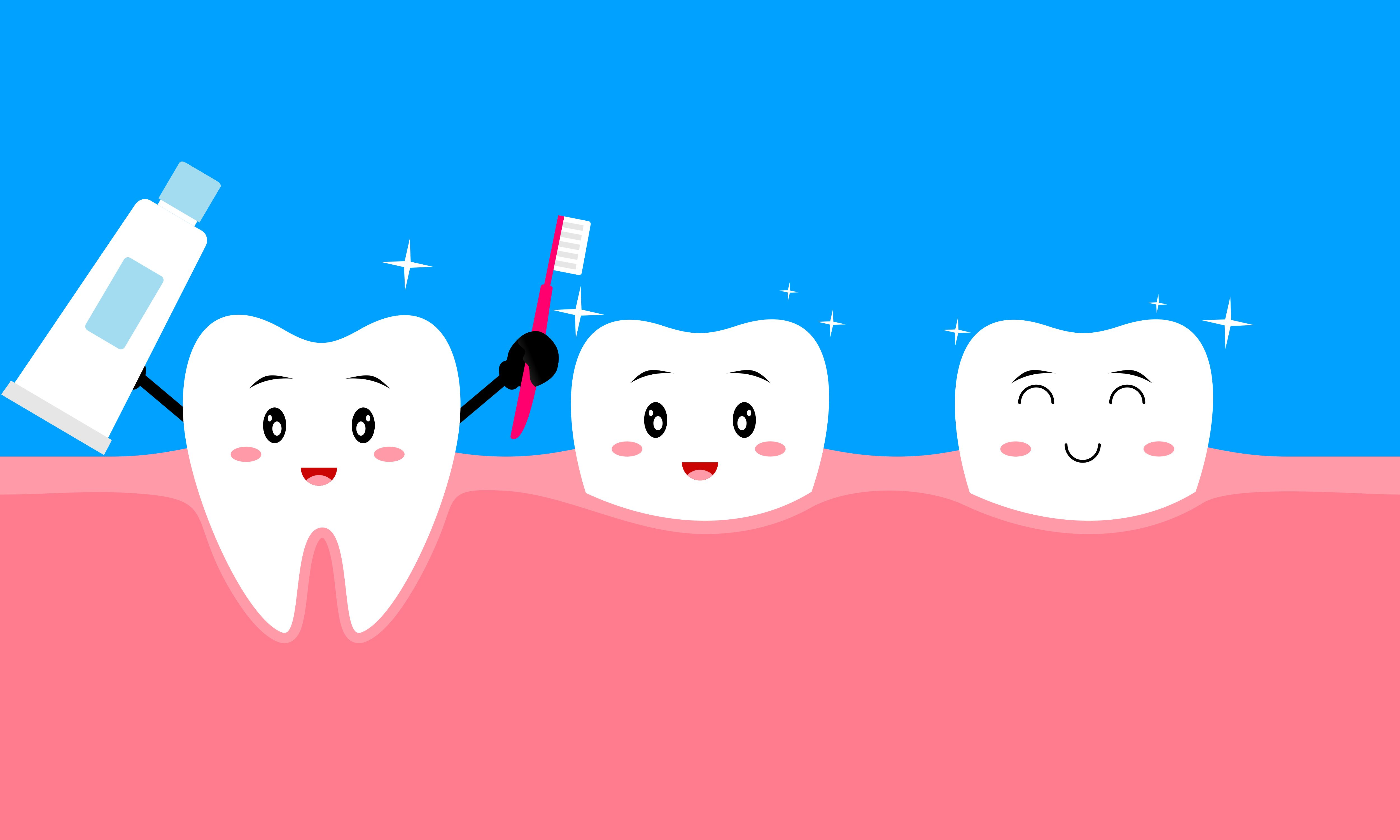 Download Free Dental Care Concept Clean Dirty Tooth Graphic By Deemka Studio for Cricut Explore, Silhouette and other cutting machines.