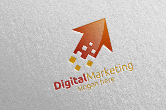 Download Free Digital Marketing Financial Logo 51 Graphic By Denayunecf for Cricut Explore, Silhouette and other cutting machines.