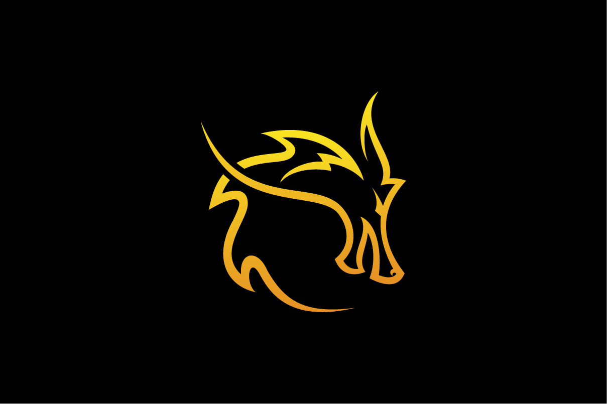 Download Free Dragon Head Vector Logo Graphic By Hartgraphic Creative Fabrica for Cricut Explore, Silhouette and other cutting machines.