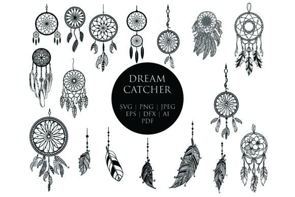 Download Free Feather Silhouette Clip Art Bundle Graphic By Meshaarts for Cricut Explore, Silhouette and other cutting machines.