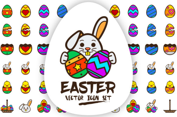 Easter Eggs Graphic Icons By borisfarias