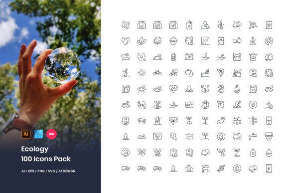 Ecology 100 Set Icons Pack Graphic Icons By StringLabs