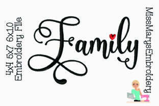 Family Family Quotes Embroidery Design By MissMarysEmbroidery