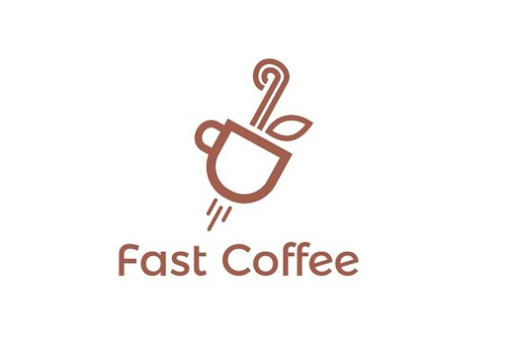 Download Free Fast Coffee Logo Graphic By Redvy Creative Creative Fabrica for Cricut Explore, Silhouette and other cutting machines.