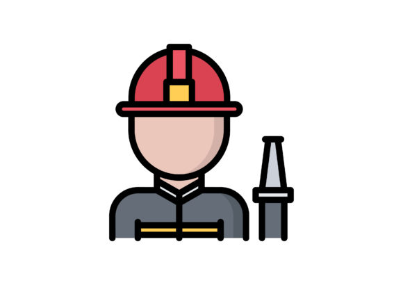 Download Free Firefighter Graphic By Beryladamayu Creative Fabrica for Cricut Explore, Silhouette and other cutting machines.