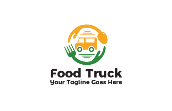 Download Free Food Truck Logo Graphic By Redvy Creative Creative Fabrica for Cricut Explore, Silhouette and other cutting machines.