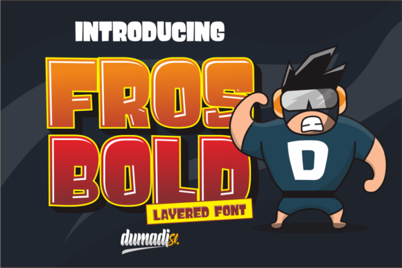 Download Free Fros Bold Font By Dumadi Creative Fabrica for Cricut Explore, Silhouette and other cutting machines.