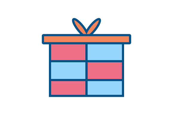 Download Free Gift Box Linear Fill Icon Vector Graphic By Riduwan Molla for Cricut Explore, Silhouette and other cutting machines.