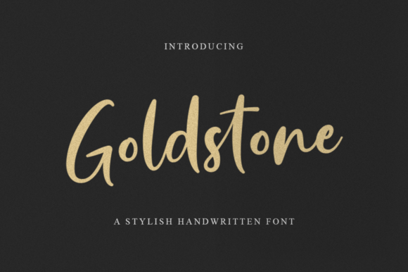 Print on Demand: Goldstone Script & Handwritten Font By Suby Store