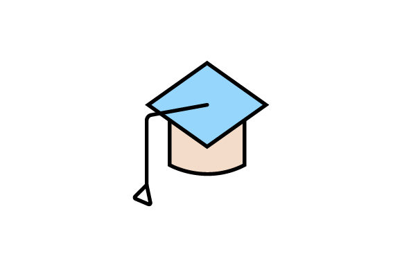 Download Free Graduation Cap Linear Fill Icon Vector Graphic By Riduwan Molla for Cricut Explore, Silhouette and other cutting machines.