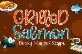 Print on Demand: Grilled Salmon Script & Handwritten Font By airotype