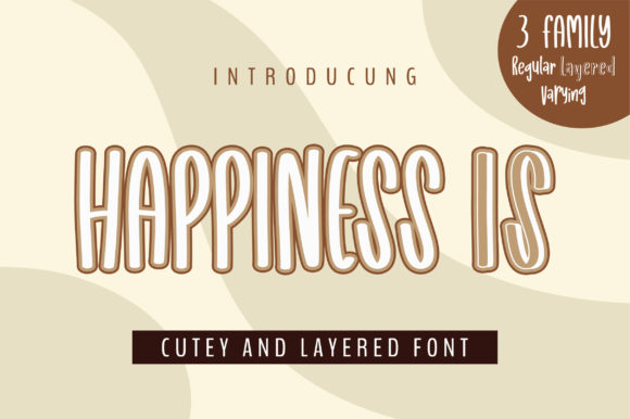 Print on Demand: Happiness is Display Font By bitongphoto
